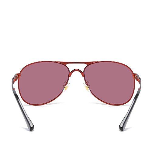 para Metálica Sol Color Anti De Hombres Cambio A Conducción De De con Lente ECHO Polarizadas De Montura Sol De Gafas Redgold Gafas UV qx0Ztn1