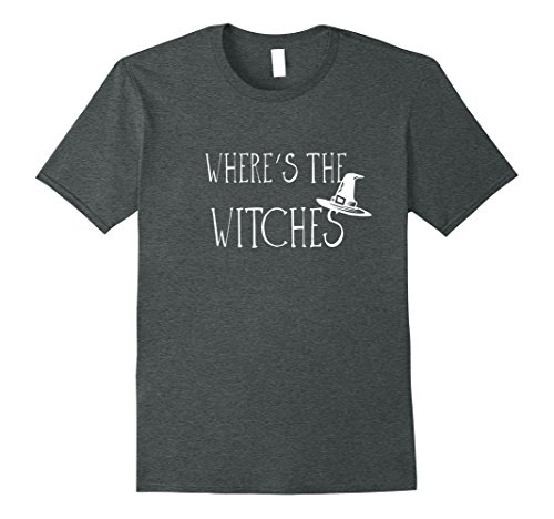 Mens Halloween Costume T Shirt Where's The Witches XL Dark Heather