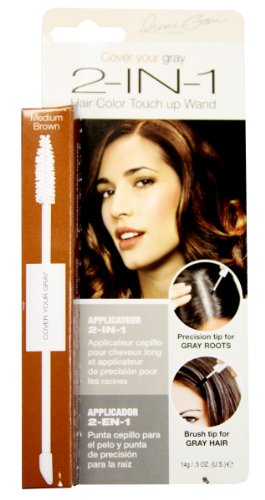 Cover Your Gray 2-in-1 Hair Color Touch up Wand - Medium Brown .5 ()