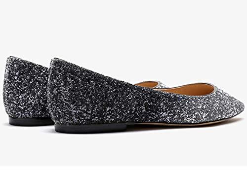Pour De Plate Bouche Nouveau Et Paillettes 2018 Mariage Femmes Shiney Silvercolor Chaussures La Souligné A Banquet EqUOO