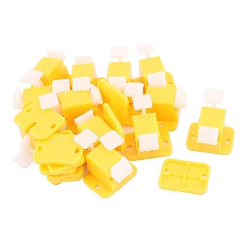 uxcell Plastic PCB Board Edge Latch Prototype Test Fixture Jig 12Pcs Yellow