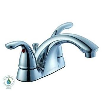 Glacier Bay Builders 4 in. 2-Handle Low-Arc Bathroom Faucet in ...