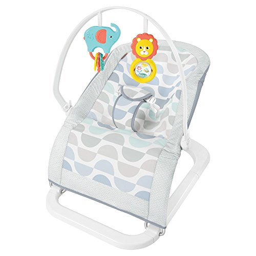 Fisher-Price Fun 'n Fold Bouncer, Blue/Grey/White