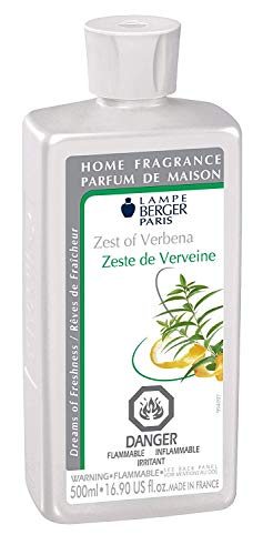 Zest of Verbena | Lampe Berger Fragrance Refill by Maison Berger | for Home Fragrance Oil Diffuser | Purifying and perfuming Your Home | 16.9 Fluid Ounces - 500 milliliters | Made in France