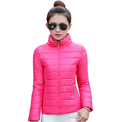 Coat Plus Jacket XFentech Red Jacket Fashion Short Outdoor Outerwear Size Womens Down Rose Y6pw1fq