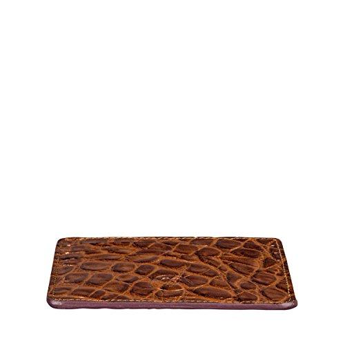 Maxwell Scott Luxury Italian Leather Mens Faux Crocodile Card Holder - Choc by Maxwell Scott Bags (Image #4)