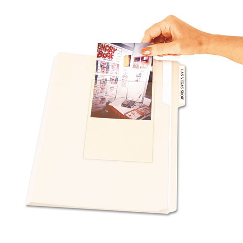 C-Line Peel & Stick Photo Holders for 3x5 & 4 x 6 Photos, 4-3/8 x 6-1/2, Clear, 10/Pack (Cline Clear Photo Holders)