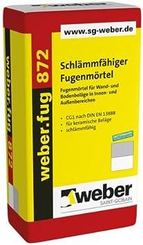 Schl/ämmf/ähiger Fugenm/örtel 25kg weber.fug 872