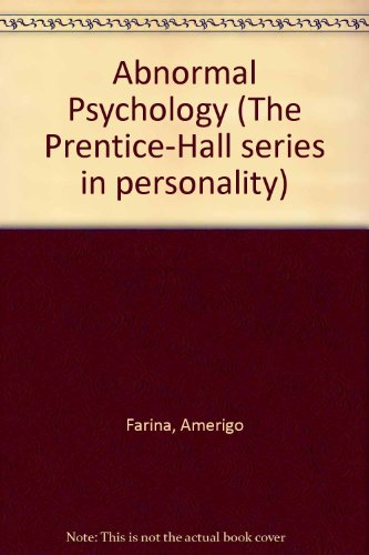 Abnormal Psychology (The Prentice-Hall series in personality)