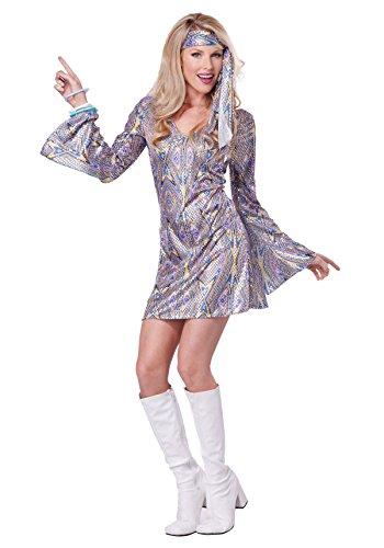 Dancing Costumes For Women (California Costumes Women's Disco Sensation 70's Dance Costume, Purple, Small)