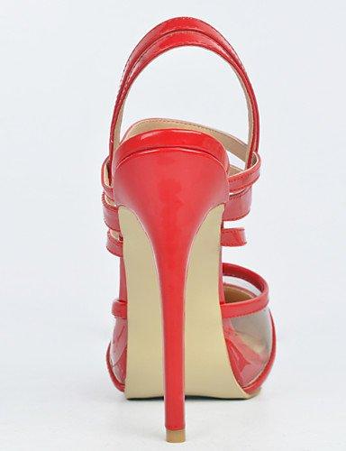 us10 patente de noche de eu42 mujeres de tac¨®n ZQ tac¨®n las tac¨®n amp; de fiesta de zapatos cn38 zapatos de eu38 uk5 de boda de 5 5 red us7 red 5 uk8 punta eu42 5 de cuero la uk8 redonda us10 cn43 red aguja 5 wqp4P4xt