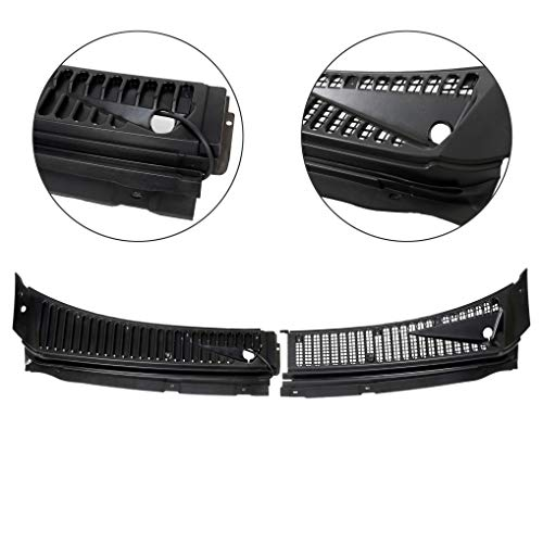 Ford Excursion Vent - 7BLACKSMITHS Windshield Wiper Cowl Vent Grille Cover Panels Kit for 1999-2007 Ford F250 F350 Excursion(Driver&Passenger Side) -Replace Part# 3C3Z-25022A68-AAA & 4C3Z-25022A69-AAA
