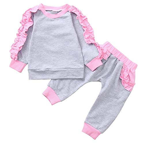 Little Girl Sport Tracksuit Sets for 0-4 Y,Jchen(TM) Toddler Baby Kids Little Girls Long Sleeves Tops+Pants Autumn Home Wear Outfits (Age: 12-18 Months) by Jchen Baby Sets