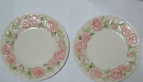 "Set of Vernon Rose Ware by Metlox China Salad Plates (7.5"")"