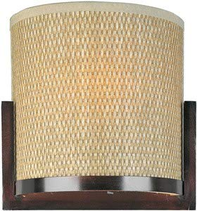 - ET2 E95088-101OI Elements 2-Light Wall Sconce, Oil Rubbed Bronze Finish, Glass, MB T10 Incandescent Bulb, Dry Safety Rated, 3000K Color Temp., Electronic Low Voltage (ELV) Dimmable, Shade Material, 1350 Rated Lumens