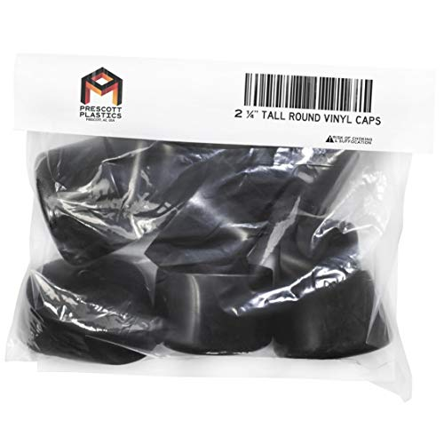 Prescott Plastics 8 Pack: Round Black Vinyl (Tall) Pipe
