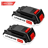 Replace for Black and Decker 20V Battery Lithium-Ion Max 3000mah LBXR20 LST220 LB20 LBX20 LBXR2020-OPE Cordless Tool Battery SUN POWER