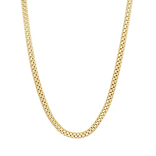 JewelStop 14k Solid Yellow Gold 1.3 mm Popcorn Chain Necklace, Lobster Claw Clasp - 20