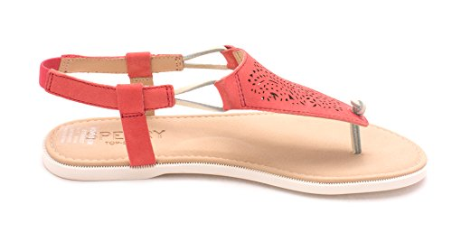 Leger Leder Of Offener Rose Frauen Sandalen Sharon Zeh Flache Sperry Fqtgx