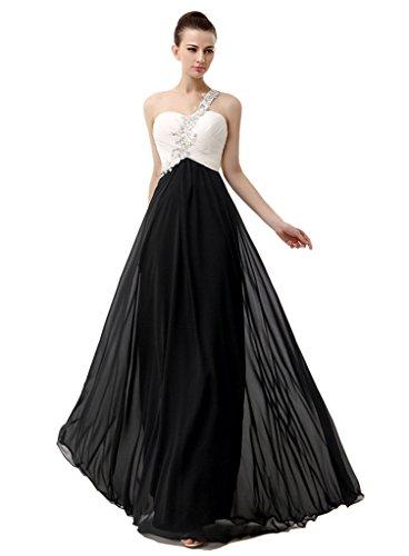 long black and white bridesmaids dresses - 3