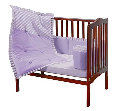 - Baby Doll Candyland Mini Port-a-Crib Bedding Set, Lavender