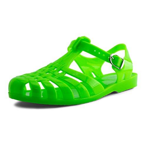 - Women Buckle Closure Slingback Sandals Womens Neon Green 10