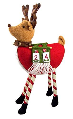 (Santa's Reindeer Stuffed Animal Plush Countdown to Christmas Advent Calendar, 14 Inch)