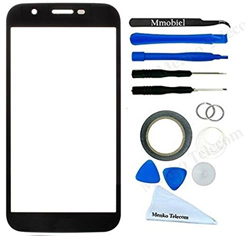 MMOBIEL Front Glass for Motorola Moto G 3rd Gen G3 XT (Black) Display Touchscreen incl Tool Kit / Pre-cut Sticker / Tweezers / Roll of 2mm Adhesive Tape / Suction Cup / Metal Wire / cleaning cloth