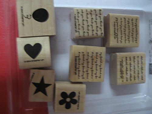 Stampin' Up! MINI MESSAGES Set of 8 Decorative Rubber Stamps Retired