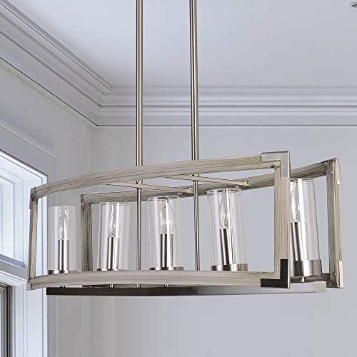 Antilisha Farmhouse Chandelier Lighting Rectangular Light Fixture Pendant Chandelier