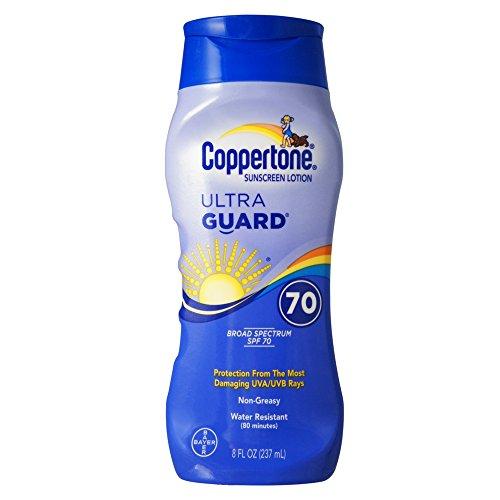 (Coppertone UltraGuard Sunscreen Lotion SPF 70+ 8 oz (Pack of 7))