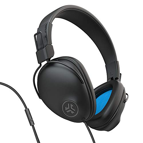 JLab Studio Pro Over-Ear Headphones | Wired Headphones | Tangle Free Cord | Ultra-Plush Faux Leather with Cloud Foam…
