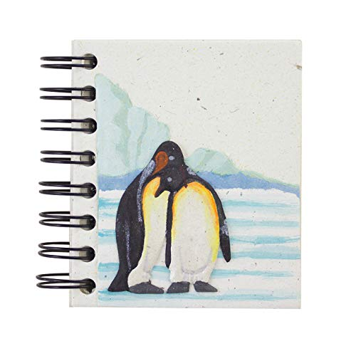 Mr. Ellie Pooh Earth Friendly Fair Trade Penguin Pocket Notebook Journal Sketch - Friendly Earth Journal