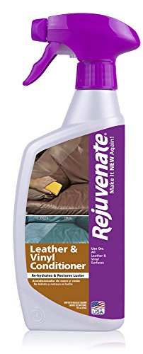Rejuvenate Leather & Vinyl Conditioner – Rehydrate, Restore Luster and Protect All Leather & Vinyl Surfaces with No Greasy Residue – 16 Ounce