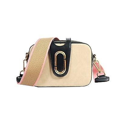 Mefly Sac à main épaule Portable sac diagonale Sangle large section transversale carrée diagonale sac à main gris,PU