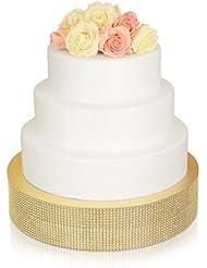 Bling, Wedding Cake Stand/Drum (14'' Round, Soft Gold)