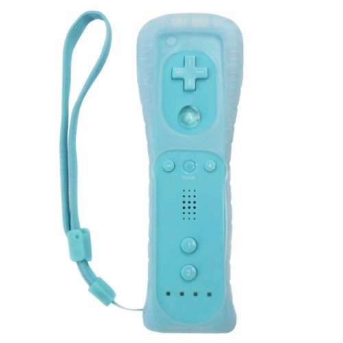 Wii Remote Controller,Lyyes Wii Remote and Nunchuck Game Controller with Silicon Case for Wii and Wii U(Without Motion Plus) (Blue)