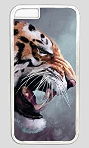 Angry Tige Painting Thanksgiving Easter PC Transparent Case for Masterpiece Limited Design iphone 6 pluse by Cases & Mousepads