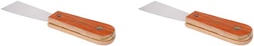 "Putty Taping Paint Scraper 1.5/"" Steel Blade Wooden Handle Wall Floor Tile 3pcs"