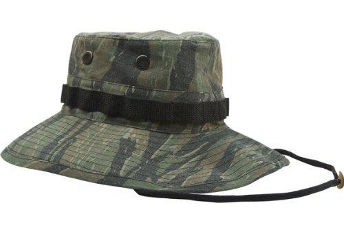 VINTAGE VIETNAM STYLE BOONIE HAT - TIGER STRIPE CAMO