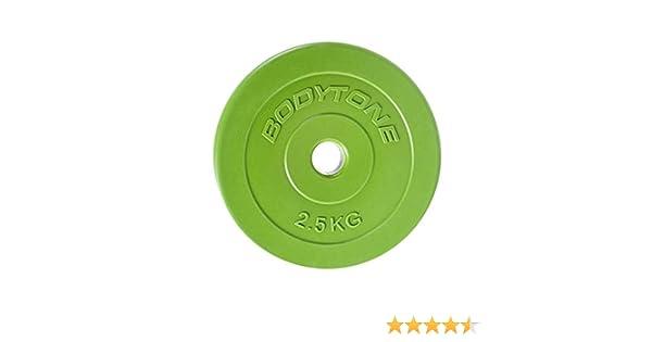 BT BODYTONE - D28/2 - PVC Disc Green 2,5kg Ø28mm - Disco de Pesas ...