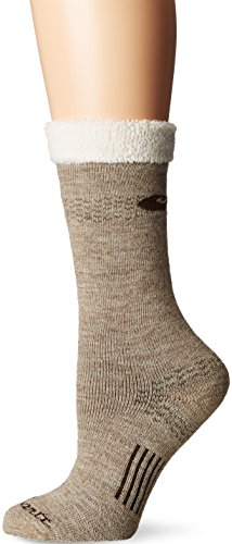 Carhartt Women's Snow Flake Sherpa Cuff Graduated Compression Boot Socks,  Khaki, Shoe: 5.5-11.5