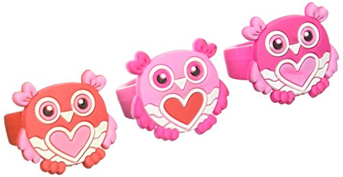 RUBBER VALENTINES OWL RINGS Pack