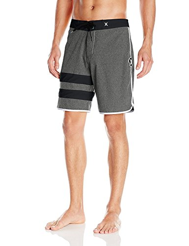 - Hurley Men's Phantom 60 Block Party Heather Boardshort, Black, 38