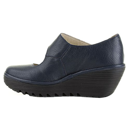 Fly London Womens YASI682FLY Leather Shoes Ocean
