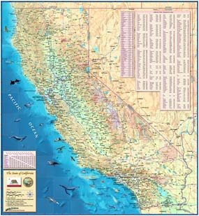 Paper California Wall Map - 36