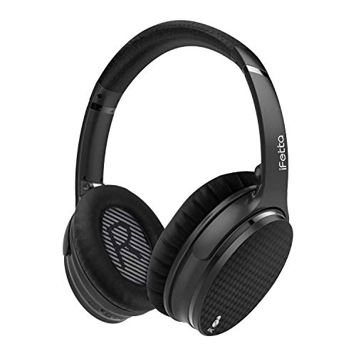 Active Noise Cancelling Headphones, Ifecco Stereo Bluetooth Headphones with Mic HiFi Over-Ear Headsets Support Volume Control 3.5mm Jack and Bluetooth Devices (Upgrade ANC)