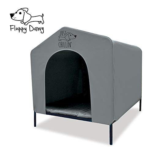 Floppy Dawg Elevated Dog Shelter. Great for Outdoor or Indoor Use. Made of Water Resistant Durable Oxford Fabric. Pet…