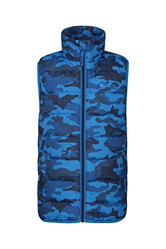 Mountain Warehouse Rocko Kids Padded Gilet Jacket - Bodywarmer Blue 11-12 Years
