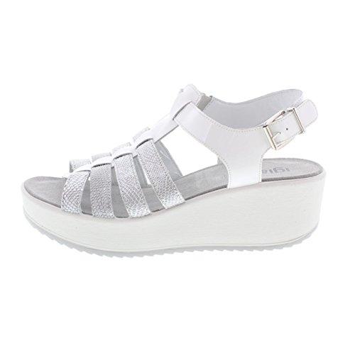 IGI&CO Las sandalias de las mujeres zapatos con cuña 78221/00 BLANCO